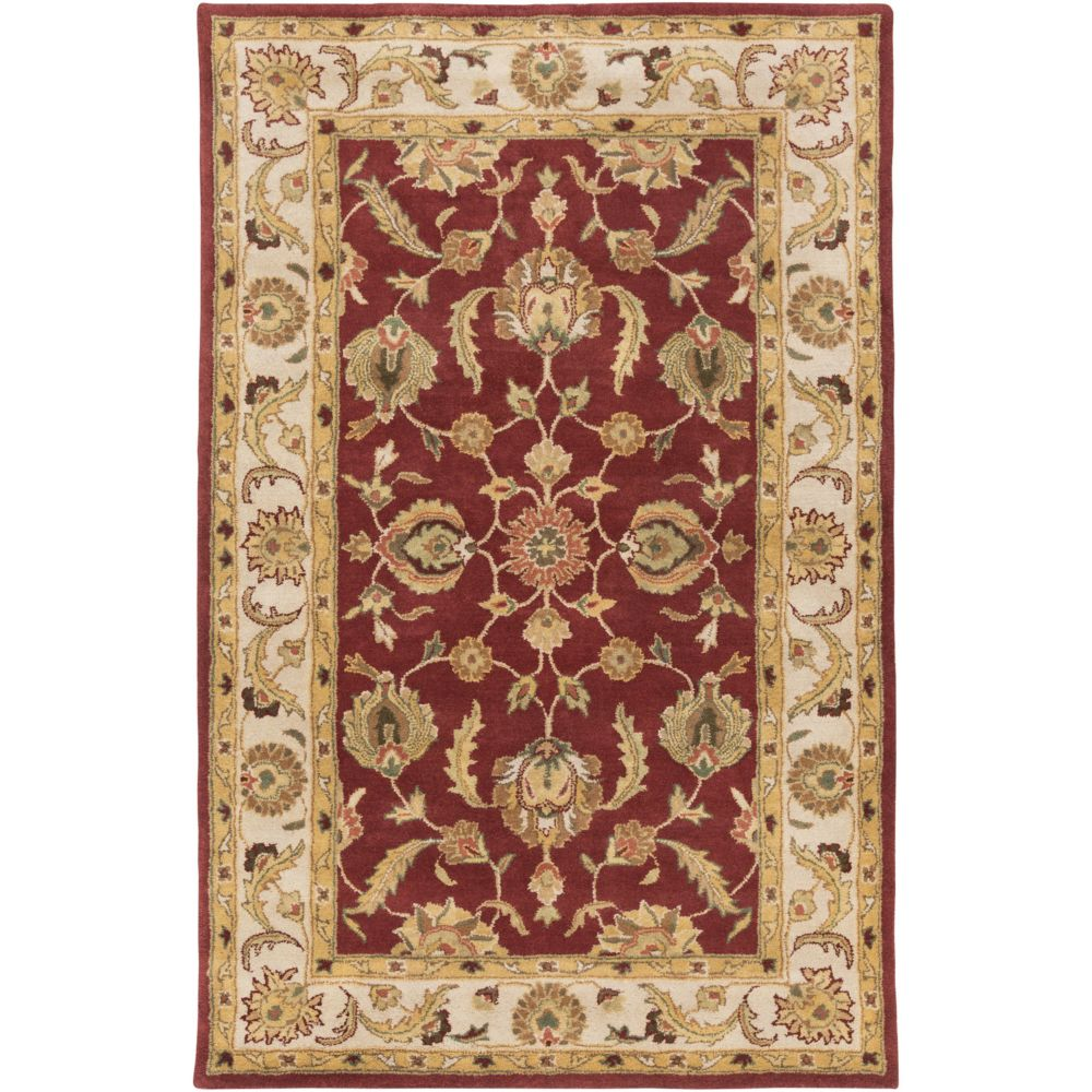 Artistic Weavers Oxford Isabelle Red 5 ft. x 8 ft. Indoor Traditional Rectangular Area Rug