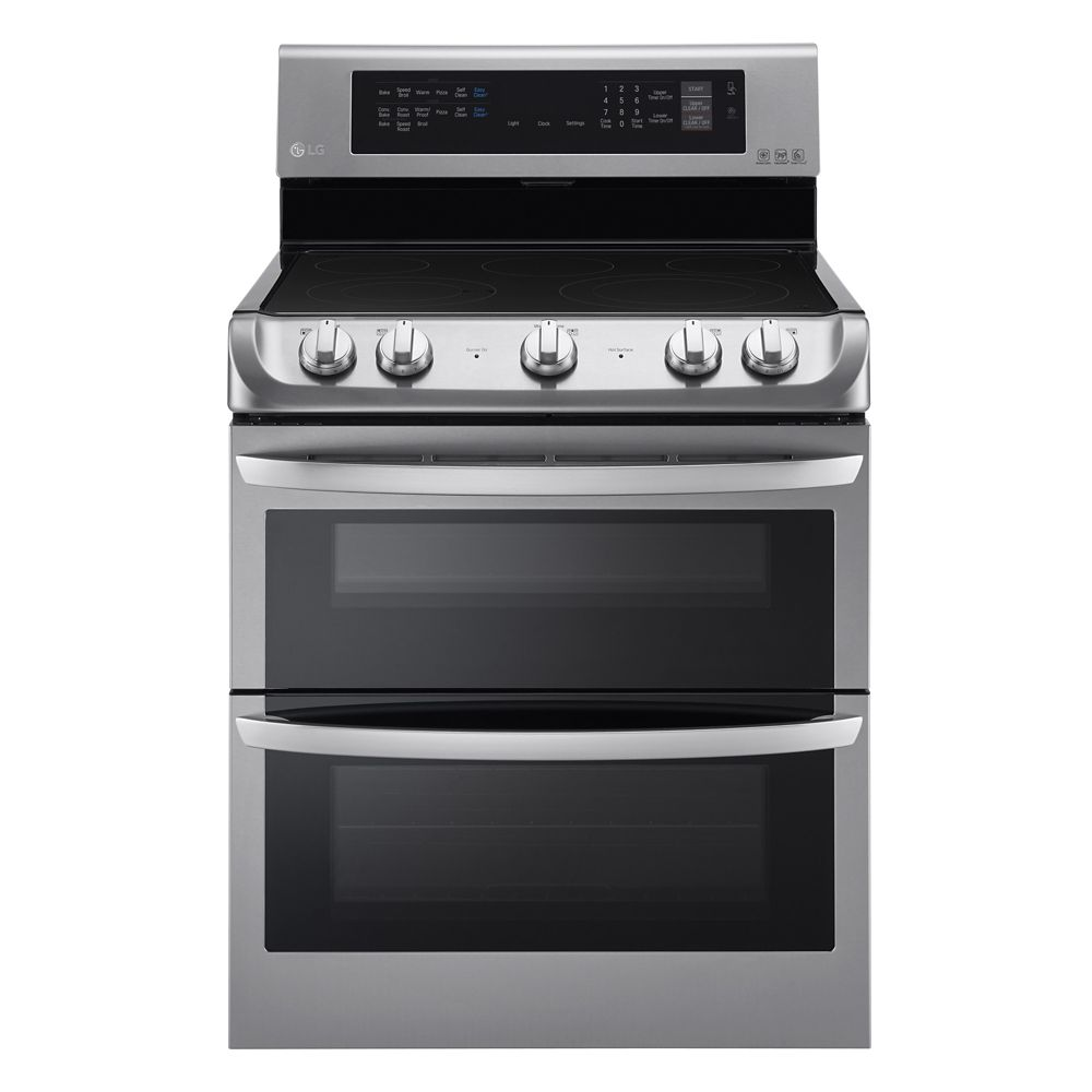 7.2 cu. ft. Electric Double Oven Range with EasyClean in Stainless Steel