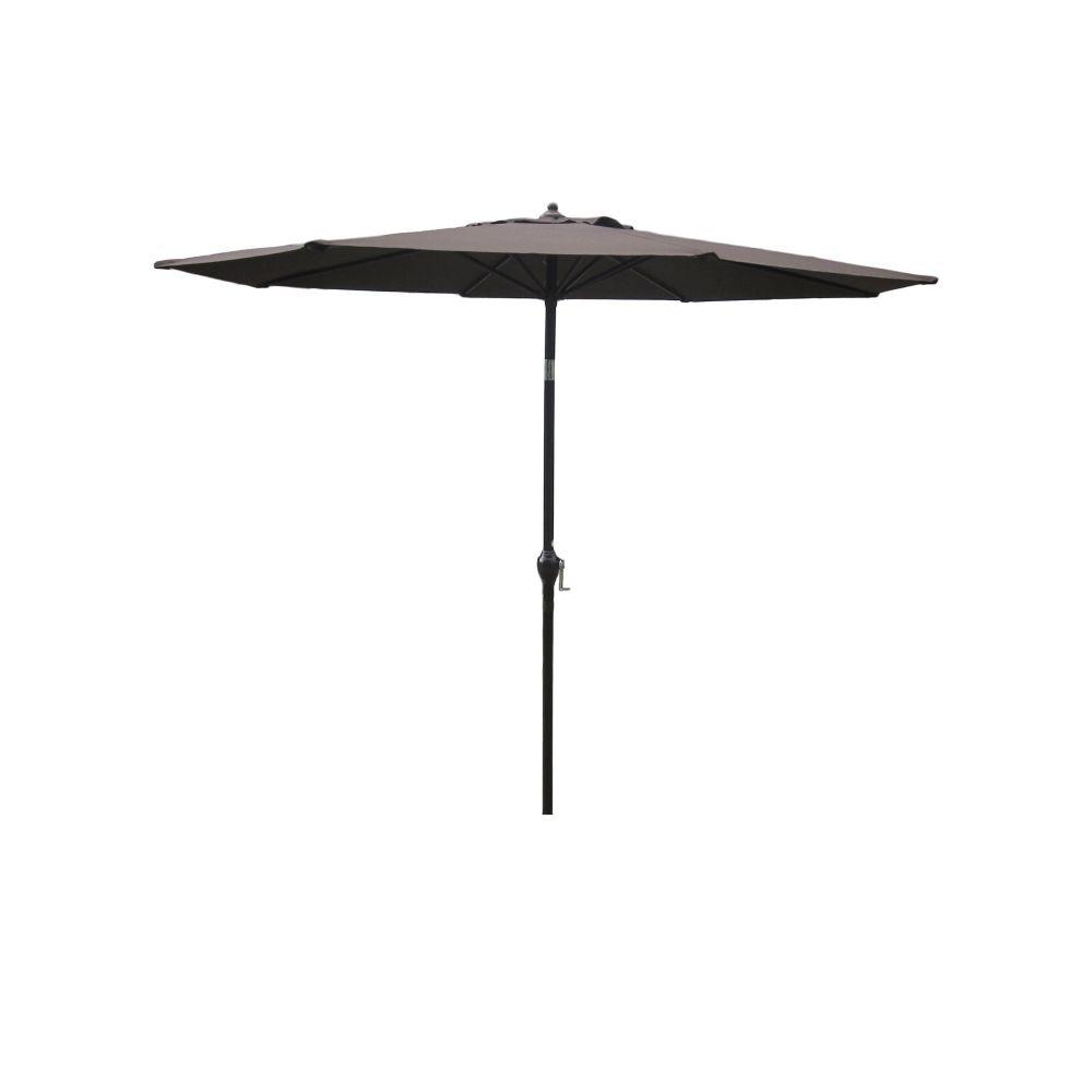 Hampton Bay 9 ft. Aluminum Market Umbrella in Brown