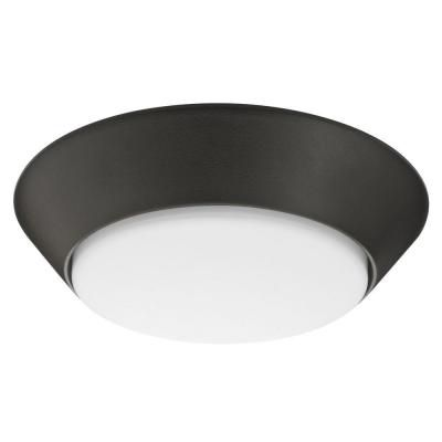 7 Inch Versi LED Bronze Small Round Wet Location Flush Mount 4000K- Dark Bronze