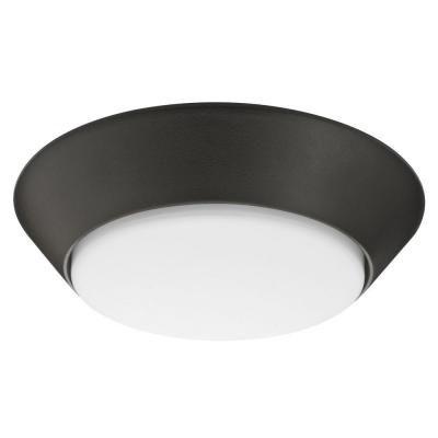 Petit luminaire DEL Versi rond encastré pour emplacement humide en bronze de 18cm (7po)