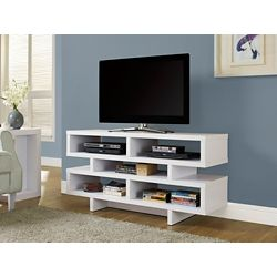 "Monarch Specialties White Hollow-Core 48""L Tv Console"