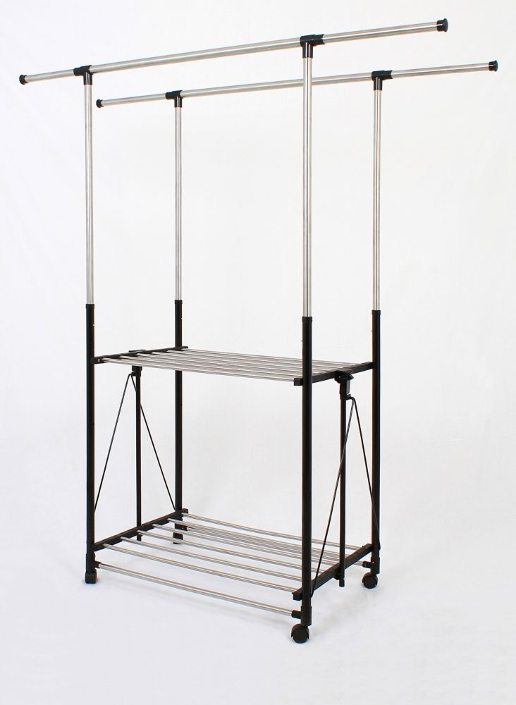 greenway greenway wall mounted stainless steel drying rack the home depot canada. Black Bedroom Furniture Sets. Home Design Ideas
