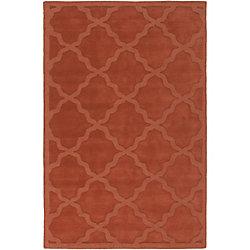 Artistic Weavers Carpette d'intérieur, 2 pi x 3 pi, style contemporain, rectangulaire, orange Central Park Abbey