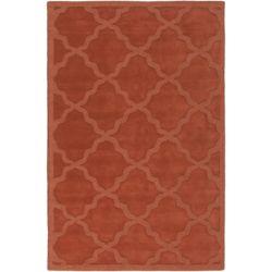 Artistic Weavers Carpette d'intérieur, 5 pi x 7 pi 6 po, style contemporain, rectangulaire, orange Central Park Abbey