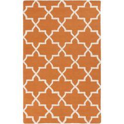 Artistic Weavers Carpette d'intérieur, 5 pi x 8 pi, à poils longs, style contemporain, rectangulaire, orange Pollack Keely
