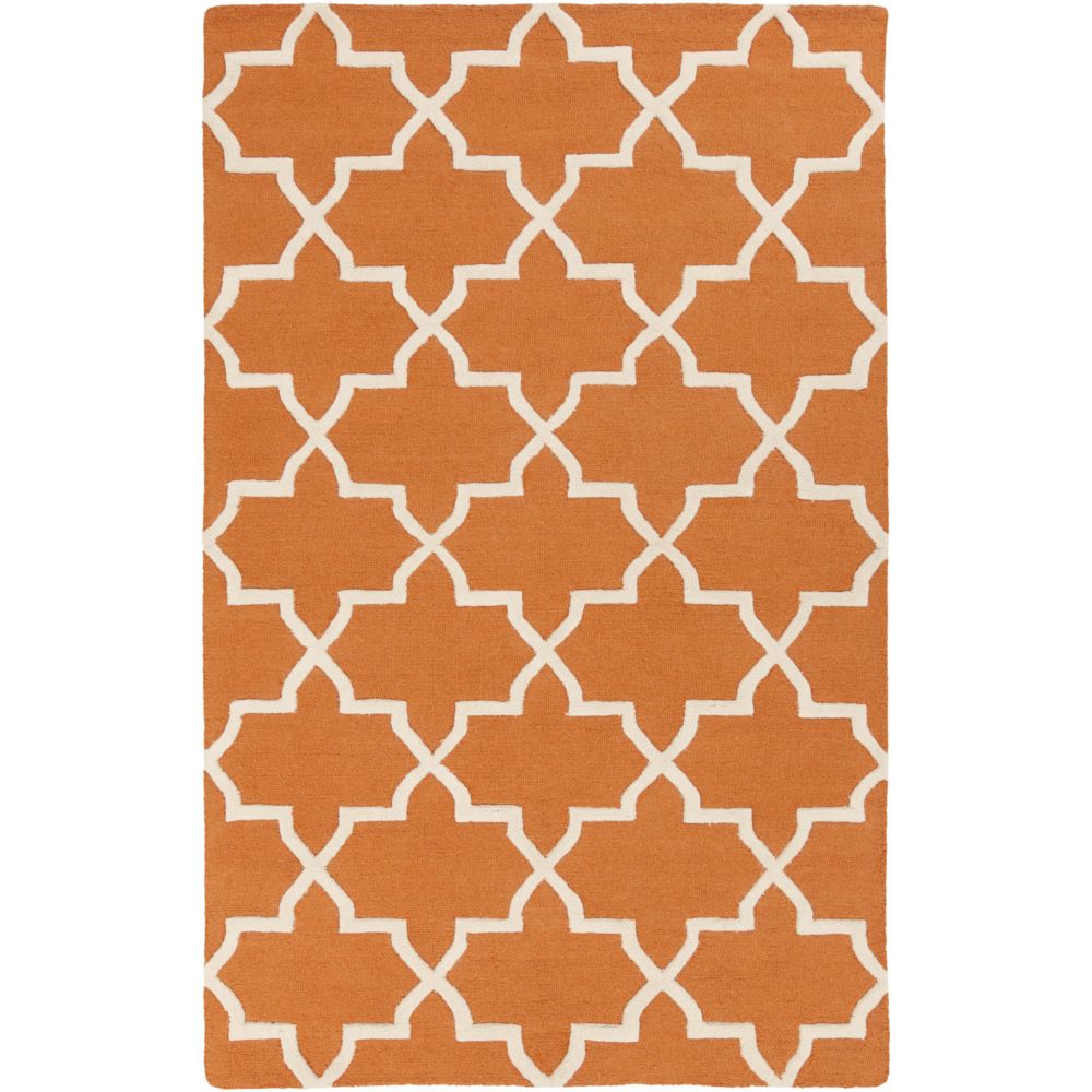 Pollack Keely 8Feet  x 11Feet  Orange/White