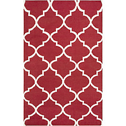 Artistic Weavers York Mallory Red 8 ft. x 10 ft. Indoor Contemporary Rectangular Area Rug