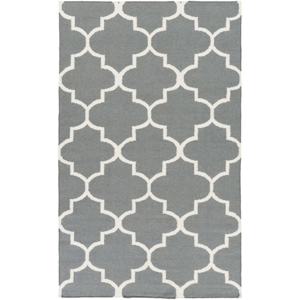 York Mallory 4Feet  x 6Feet  Gray/White