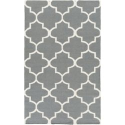 Artistic Weavers York Mallory Grey 4 ft. x 6 ft. Indoor Contemporary Rectangular Area Rug