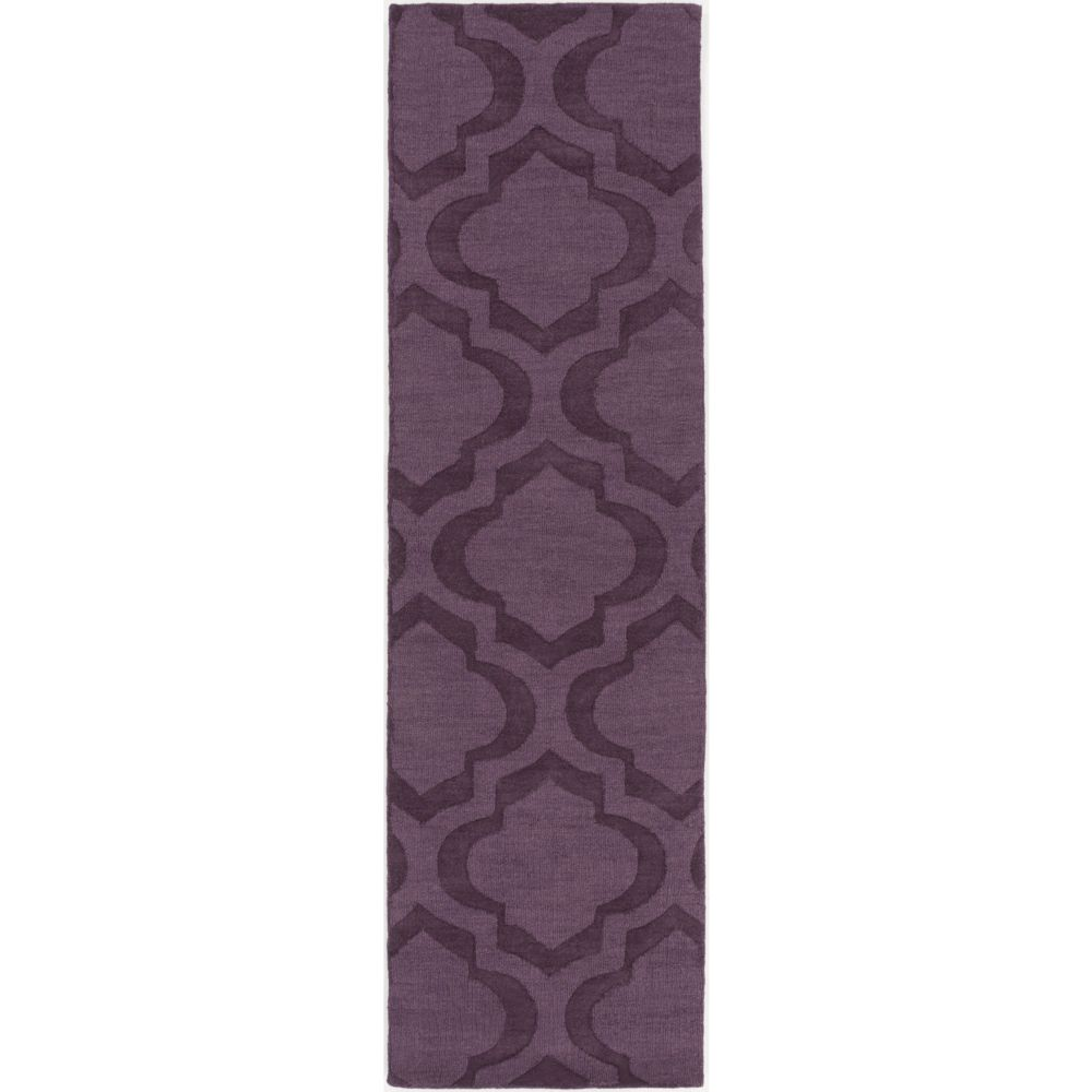 Artistic Weavers Central Park Kate Purple 2 ft. 3-inch x 10 ft. Indoor Transitional Runner