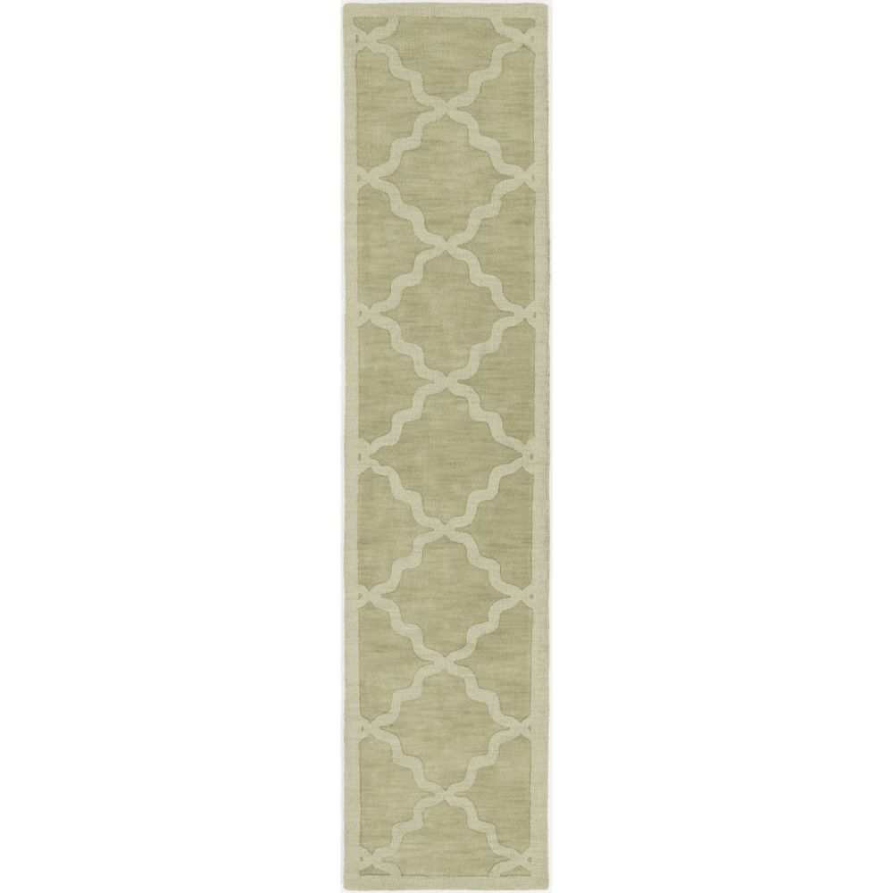 Artistic Weavers Central Park Abbey Green 2 ft. 3-inch x 10 ft. Indoor Transitional Runner