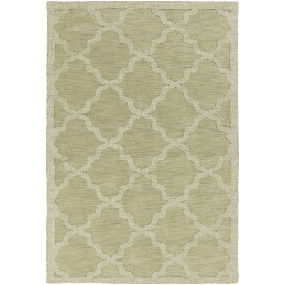 Artistic Weavers Central Park Abbey Green 5 ft. x 7 ft. 6-inch Indoor Transitional Rectangular Area Rug