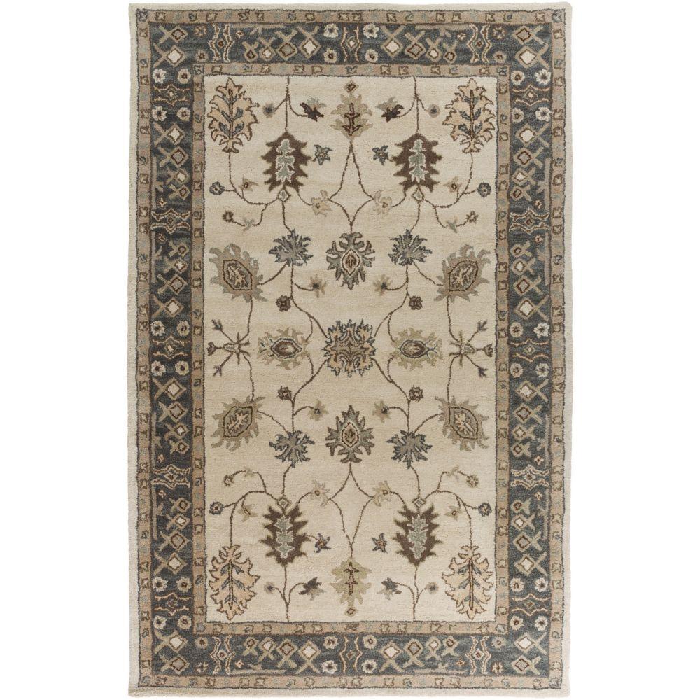 Artistic Weavers Carpette d'intérieur, 5 pi x 8 pi, style traditionnel, rectangulaire, gris Middleton Willow