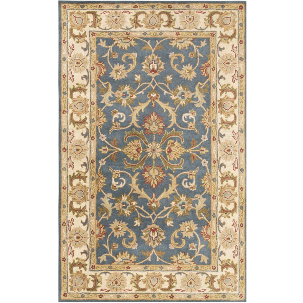 Artistic Weavers Oxford Aria Blue 5 ft. x 8 ft. Indoor Traditional Rectangular Area Rug