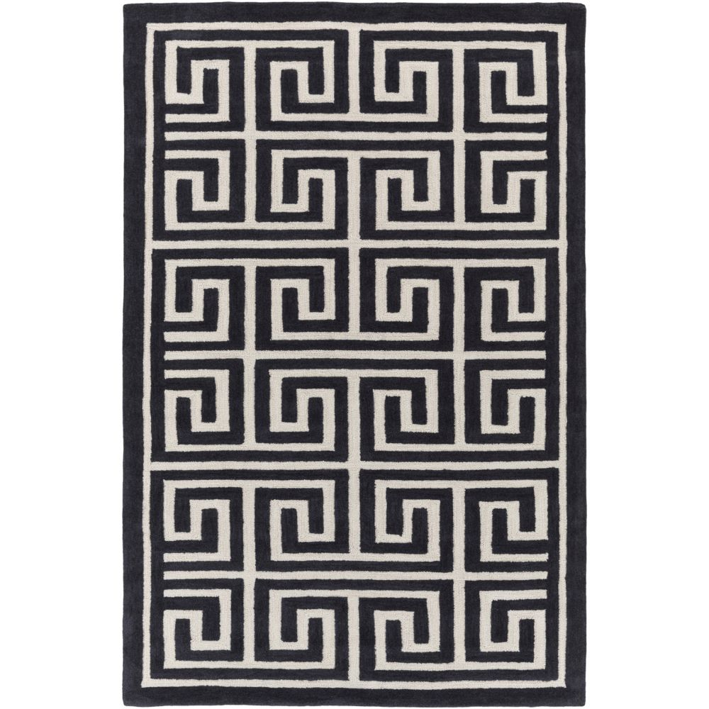 Artistic Weavers Holden Kennedy Black 5 ft. x 7 ft. 6-inch Indoor Contemporary Rectangular Area Rug