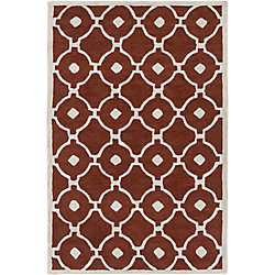 Artistic Weavers Holden Hazel Red 5 ft. x 7 ft. 6-inch Indoor Contemporary Rectangular Area Rug