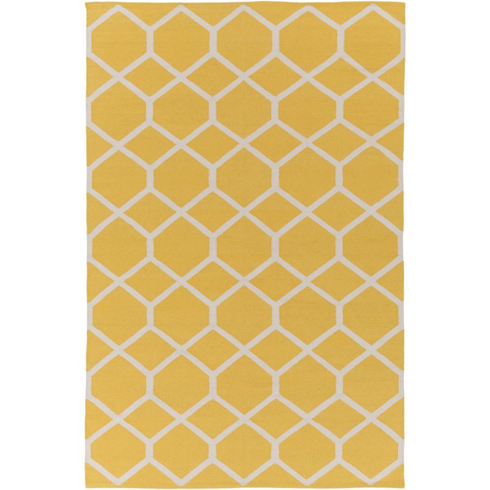 Artistic Weavers Vogue Elizabeth Yellow 8 ft. x 10 ft. Indoor Contemporary Rectangular Area Rug