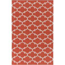 Artistic Weavers Carpette d'intérieur, 4 pi x 6 pi, style contemporain, rectangulaire, orange Vogue Lola