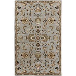 Artistic Weavers Carpette d'intérieur, 3 pi x 5 pi, style traditionnel, rectangulaire, bleu Middleton Mallie