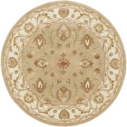 Artistic Weavers Oxford Isabelle Beige Tan 3 ft. 6-inch x 3 ft. 6-inch Indoor Traditional Round Area Rug