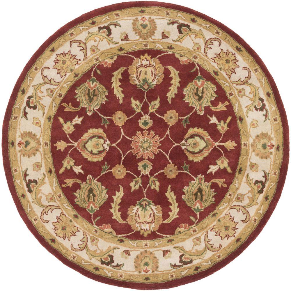 Oxford Isabelle 3 pi 6 po (rond) rouge/beige