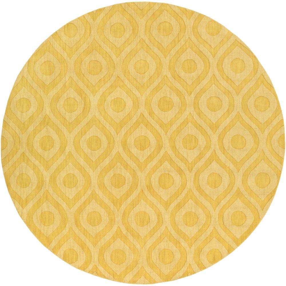 Central Park Zara 9Feet 9 Inch Round Yellow