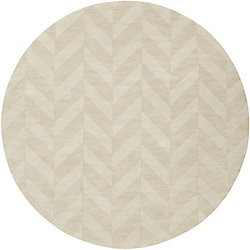 Artistic Weavers Central Park Carrie Off-White 9 ft. 9-inch x 9 ft. 9-inch Indoor Transitional Round Area Rug