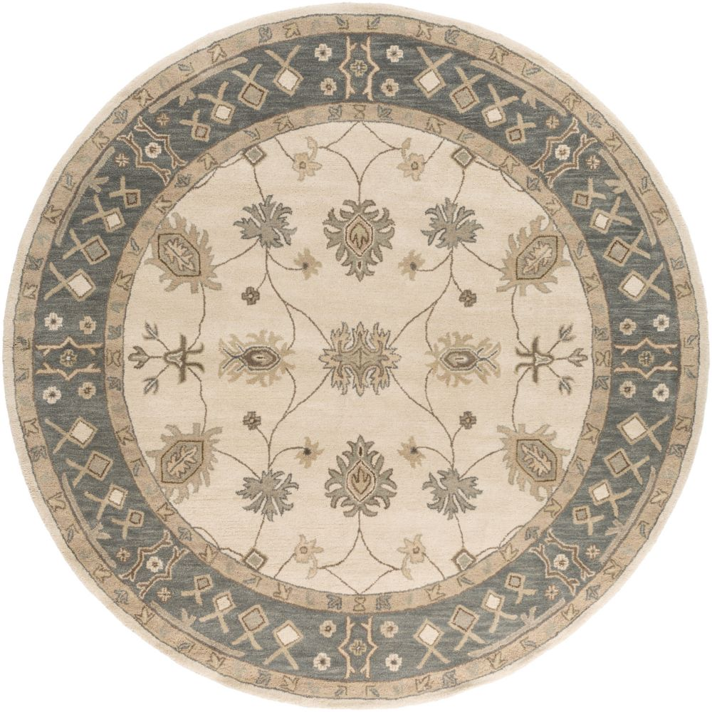 Middleton Willow 3Feet 6 Inch Round Gray/Ivory