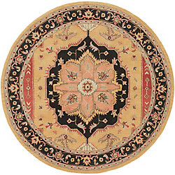 Artistic Weavers Middleton Mia Orange 3 ft. 6-inch x 3 ft. 6-inch Indoor Transitional Round Area Rug