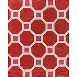 Artistic Weavers Holden Lennon Red 7 ft. 6-inch x 9 ft. 6-inch Indoor Contemporary Rectangular Area Rug
