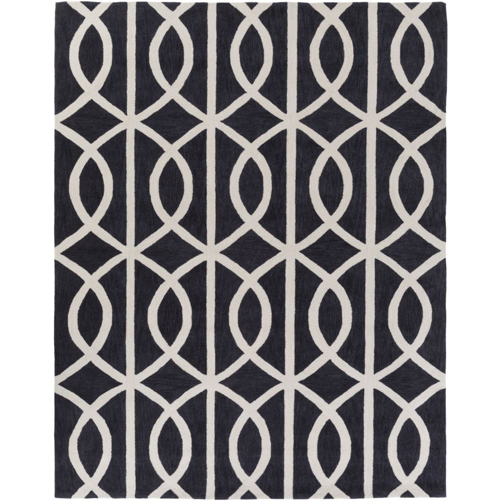 Artistic Weavers Holden Zoe Black 7 ft. 6-inch x 9 ft. 6-inch Indoor Contemporary Rectangular Area Rug