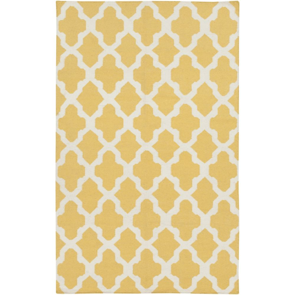York Olivia 5Feet  x 8Feet  Yellow/White