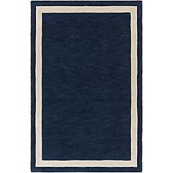 Artistic Weavers Carpette d'intérieur, 5 pi x 7 pi 6 po, style contemporain, rectangulaire, bleu Holden Blair