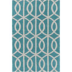 Artistic Weavers Carpette d'intérieur, 5 pi x 7 pi 6 po, style contemporain, rectangulaire, bleu Holden Zoe