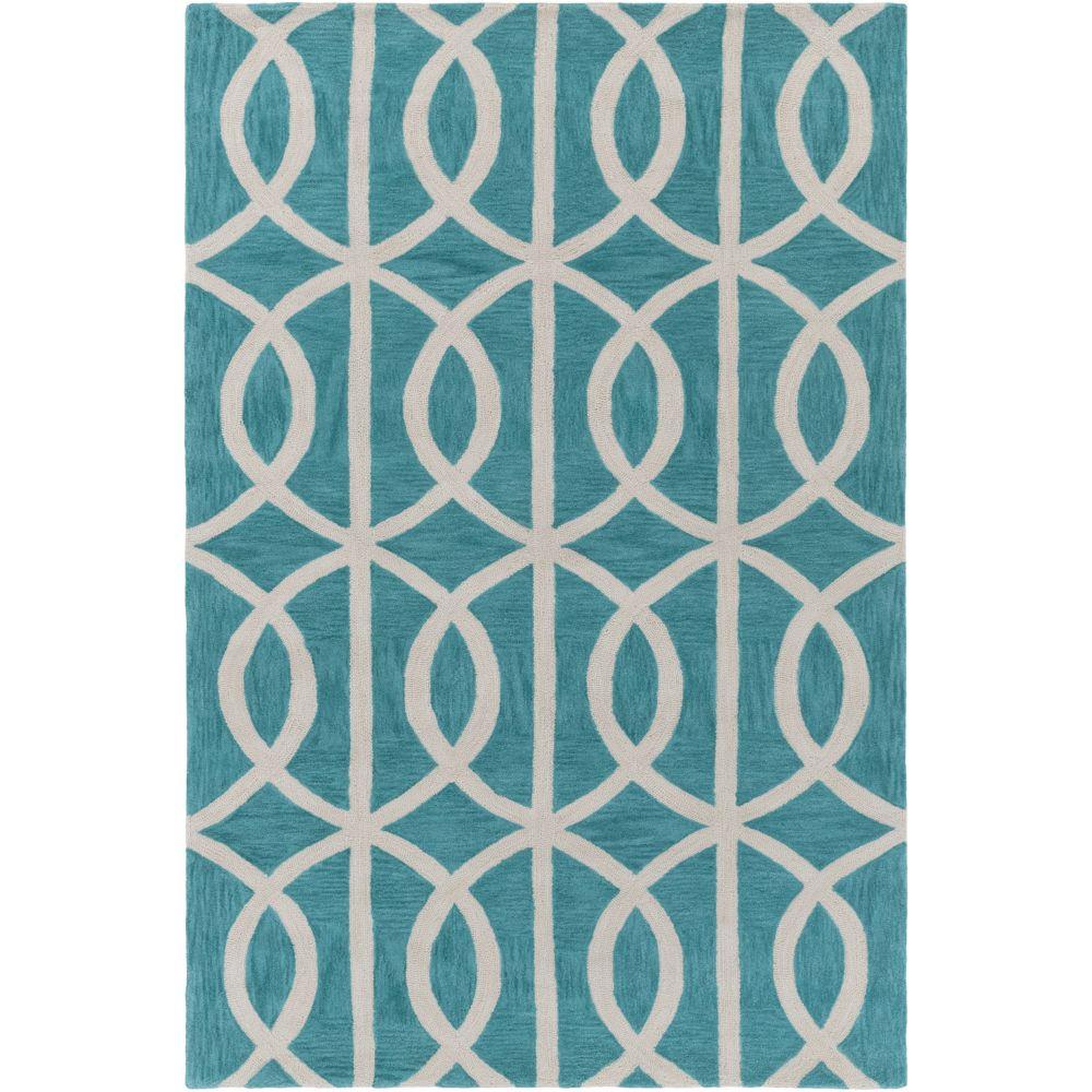 Holden Zoe 5 pi x 7 pi 6 po bleu sarcelle/ivoire