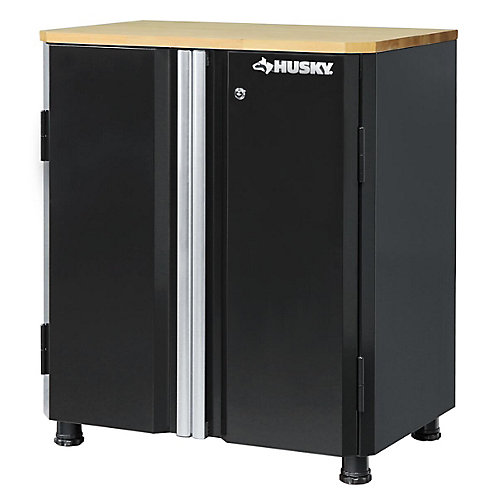 28-inch 2-Door Garage/Workshop Base Cabinet in Black