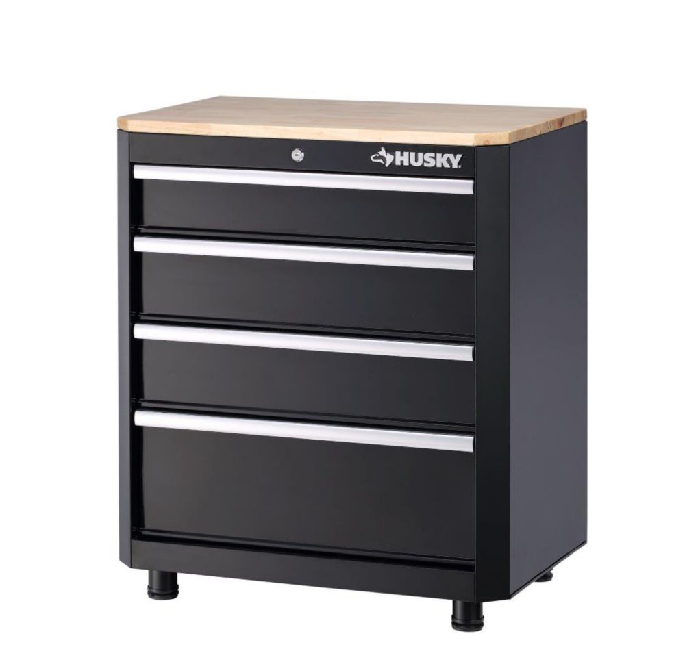 Husky 28 Inch 4 Drawer Base Cabinet The Home Depot Canada