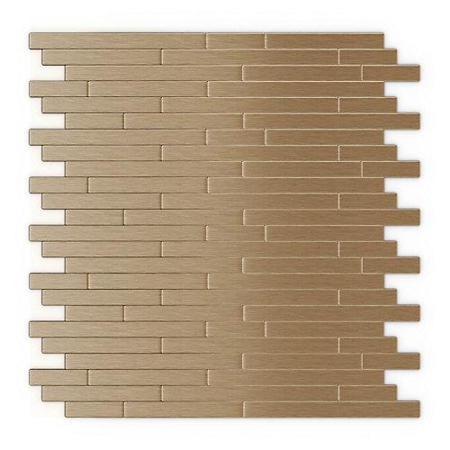 Tuile de mosaÏque pour murs Kellie, 12,09 po x 11,97 po x 0,2 po, metal, cuivre,