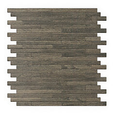 Woodly 12,09-inch x 11.97-inch Metal Self-Adhesive Wall Mosaic Tile