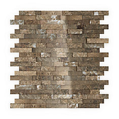 Bengal 11.77-inch x 11.57-inch Marble Self-Adhesive Wall Mosaic Tile