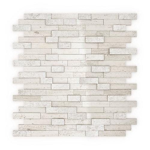 Himalayan 11.77-inch x 11.57-inch Marble Self-Adhesive Wall Mosaic Tile