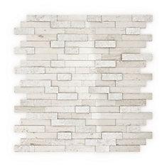 Tuile de mosaÏque pour murs Himalayan, 11,77 po x 11,57 po x 0,32 po, marbre, gris pâle