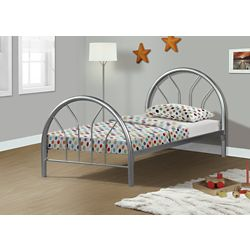 Monarch Specialties Bed - Twin Size / Silver Metal Frame Only