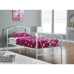 Monarch Specialties Bed - Twin Size / White Metal Frame Only