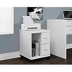 2-Drawer Manufactured Wood Filing Cabinet in White