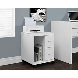 Monarch Specialties 2-Drawer Manufactured Wood Filing Cabinet in White