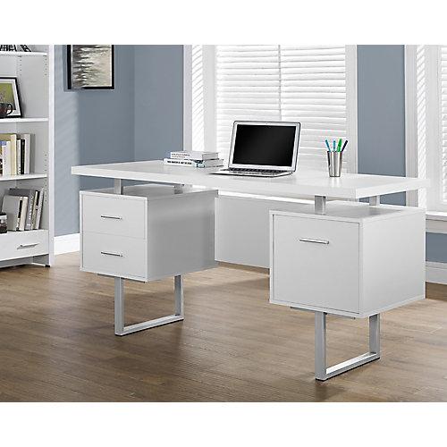 Standard Computer Desk in White
