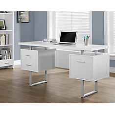 Standard Computer Desk in White
