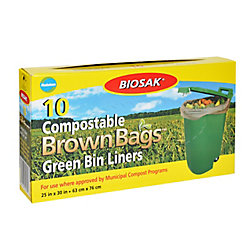 Biosak Compostable Green Bin